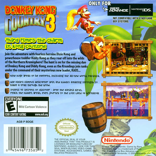 Game: Donkey Kong Country 3 [Game Boy Advance, 2005 ...