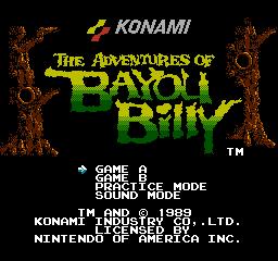 Game The Adventures Of Bayou Billy Nes 1989 Konami