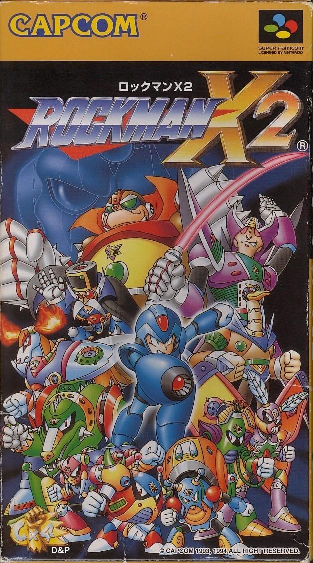 Mega Man X2 - Game: Front Cover (JP)