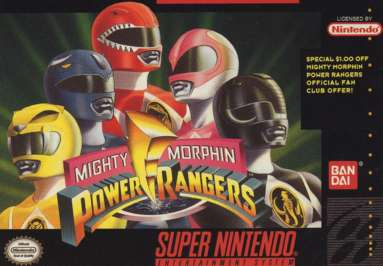 Mighty Morphin Power Rangers - Game: Front Cover