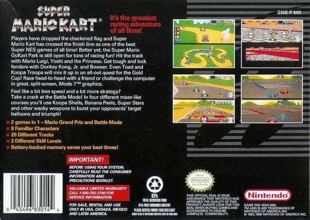 game super mario kart snes 1992 nintendo oc remix. Black Bedroom Furniture Sets. Home Design Ideas