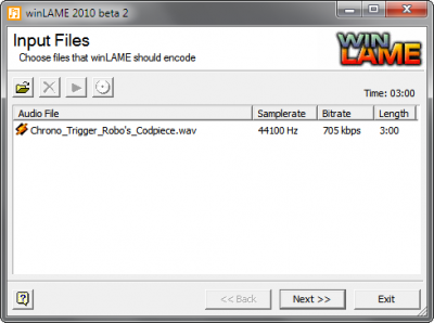 Step 1: Load your WAV file into winLAME